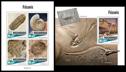 MOZAMBIQUE 2020 - Fossils. M/S + S/S. Official Issue [MOZ200114] - Stamps