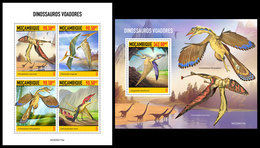 MOZAMBIQUE 2020 - Pterosaurs. M/S + S/S. Official Issue [MOZ200115] - Stamps