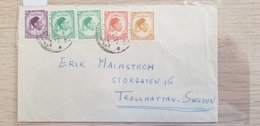 J) 1952 NORTH AFRICA, KING IDRIS, MULTIPLE STAMPS, AIRMAIL, CIRCULATED COVER, FROM NORTH AFRICA TO SWEDEN - Libia