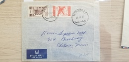 J) 1953 NORTH AFRICA, AIRPLANE, MULTIPLE STAMPS, AIRMAIL, CIRCULATED COVER, FROM NORTH AFRICA TO USA - Libia