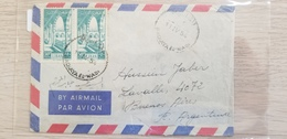 J) 1954 NORTH AFRICA, CHURCH, AIRMAIL, CIRCULATED, COVER FROM NORTH AFRICA TO ARGENTINA - Libia