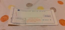 BIGLIETTO TRENO DA TRENTO A PALERMO 1989 - Railway