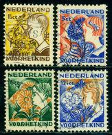Netherlands 1932 Child,Cornflower,Sunflower,Christmas Rose,Gorse,Mi.253 A,VFU - Pflanzen Und Botanik