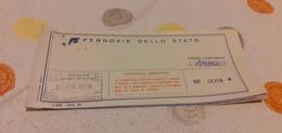 BIGLIETTO TRENO AGENZIA VIAGGI A.S.T.I. ANDATA E RITORNO DA FIRENZE A BOLOGNA 1989 - Railway