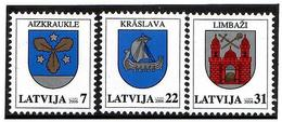 Latvia  2006 . COA 2006. Aizkr,Krasl, Limbazi. 3v:7,22,31.   Michel #  660-62 - Lettonie