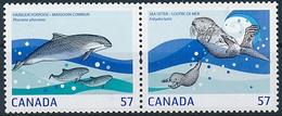 Mi 2636-37 A MNH ** Joint Issue Sweden / Marine Mammals, Harbour Porpoise, Phocoena Phocaena, Sea Otter, Enhydra Lutris - Neufs