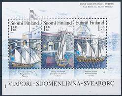 Mi 1798-1800 MNH ** Joint Issue Sweden / Sea Fortress, Suomenlinna, UNESCO World Heritage, Windmill, NVI - Nuevos