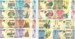 MADAGASCAR Set 8v: 100 200 500 1000 2000 5000 10000 20000 Ariay 2017 P 97 98 99 100 101 102 103 104 UNC - Madagascar