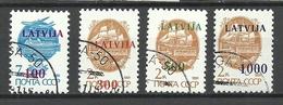 LETTLAND Latvia 1991 Michel 313 - 316 O - Lettland