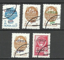 LETTLAND Latvia 1992 Michel 335 - 339 O - Lettland