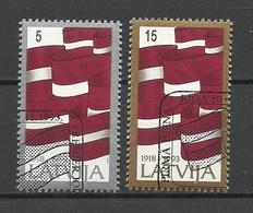 LETTLAND Latvia 1993 Michel 361 - 362 O - Lettland