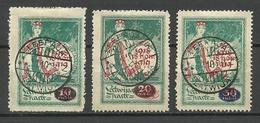 LETTLAND Latvia 1920 Michel 55 - 57 O Nice Cancels Leepaja - Lettland