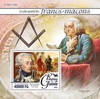 Guinea, 2016. [gu16107]  Freemasons (s\s+block) - Francmasonería
