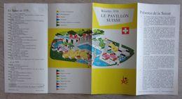 Expo 58 - Bruxelles  - Brussel - World Fair - Folder Suisse -  Switzerland - Zwitserland - Publicidad
