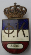 Financijska Kontrola Kraljevina Jugoslavija  Financial Control Kingdom Of Yugoslavia BIG BADGE  Rrrare PINS BADGES P4/1 - Armee