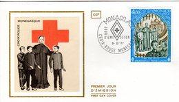 """"""" CROIX-ROUGE 1977 : SAINT JEAN BOSCO """" Sur Enveloppe 1er Jour De MONACO De 1977 Edit° CEF N° YT 1123 FDC - Cruz Roja"""