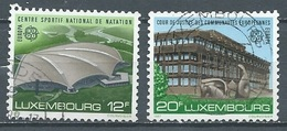 Luxembourg YT N°1124/1125 Europa 1987 Architecture Moderne Oblitéré ° - Europa-CEPT
