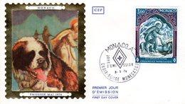 """"""" CROIX-ROUGE 1974 : SAINT BERNARD DE MENTHON """" Sur Enveloppe 1er Jour De MONACO De 1974 Edit° CEF N° YT 956 FDC - Rotes Kreuz"""