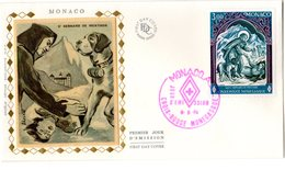 """"""" CROIX-ROUGE 1974 : SAINT BERNARD DE MENTHON """" Sur Enveloppe 1er Jour De MONACO De 1974 Edit° FDC N° YT 956 FDC - Rotes Kreuz"""