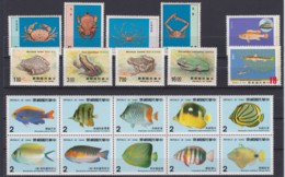 "TAIWAN 1981 - 1988, ""in Water Living Animals"", 4 Series - 1945-... República De China"