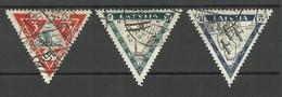 LATVIA Lettland 1933 Michel 225 - 227 A O - Lettland
