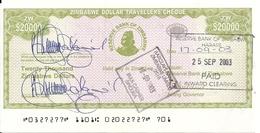 ZIMBABWE  20000 DOLLARS 2003 AUNC P 18 - Simbabwe