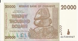 ZIMBABWE 20000 DOLLARS 2008 UNC P 73 - Simbabwe