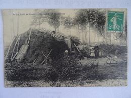CPA 91 La Foret De Sénart Une Cabane De Bucherons Animée  1908  TBE - Sénart