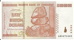 ZIMBABWE 50 BILLION 2008 UNC P 87 - Simbabwe