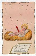 NOEL -- Heureux Noel --  Nouveau-né  (découpi ) - Natale