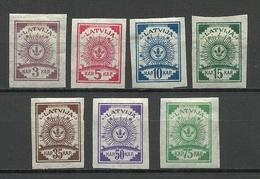 LETTLAND Latvia 1919 = 7 Values From Set Michel 6 - 14 C * - Lettland