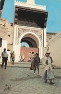 Carte Postale. Maroc. Fès. Mosquée Des Andalous. Animation. Edition Jeff. Etat Moyen. Taches. - Islam