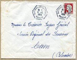 GATTEVILLE-LE-PHARE MANCHE  Hexagonal Tireté 1964 - 1961-....
