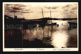 Uruguay Postcard Cpa AK - Montevideo El Puerto Edicion London Paris Real Photo RPPC Ca1930  W6-022 - Uruguay