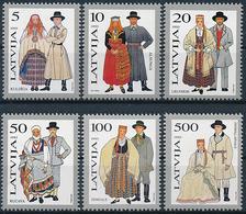 Mi 351-56 MNH ** Folk Costume, Trachten - Lettland