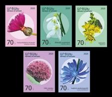 Armenia (Nagorno-Karabakh) 2020 Mih. 215/19 Definitive Issue. Flora. Flowers MNH ** - Armenien