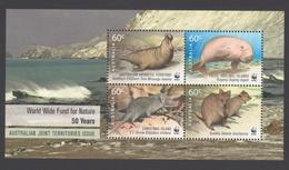 AUSTRALIE AAT 2011 BLOC WWF 50 Années AAT Neuf ** Mnh - Territoire Antarctique Australien (AAT)