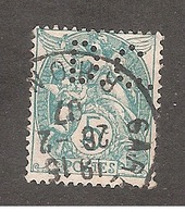 Perforé/perfin/lochung France No 111 D.C. Descours Cabaud Et Cie - France