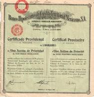 Titre Ancien - Banco Hipotecario De Crédito Territorial Mexicano S.A - Titulo De 1932 - - Banque & Assurance