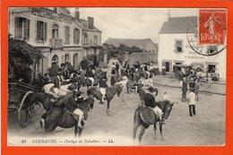 CPA - D44 - GUERANDE - ( Loire Atlantique ) - Oblitéré 1912 -  Cortège  Des  Paludiers  - No 34 -  ( Beau Plan Animée ) - Guémené-Penfao