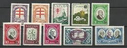 LETTLAND Latvia 1931 Michel 180 - 189 Incl. Better Watermark Positions * - Lettland