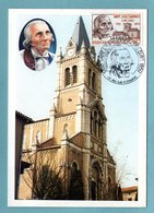 Carte Maximum 1986 - Saint JMB Vianney - YT 2418 - 01 Ars Sur Formans - Cartes-Maximum