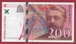 """200 Francs """"Eiffel"""" 1995 ---SUP--ALPH -A- Numéro .000656447---PREMIER MILLION - 1992-2000 Dernière Gamme"""