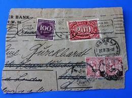 Curiosité  --Allemagne Basel Bank Lettre à étudier Timbre Taxe Monaco?Durchlöche.Perforé,Perforés,Perfin,Perforated - Deutschland