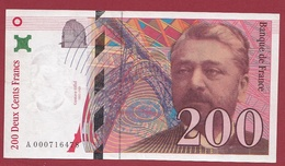 """200 Francs """"Eiffel"""" 1995 ---TTB+--ALPH -A- Numéro .000716478---PREMIER MILLION - 1992-2000 Dernière Gamme"""