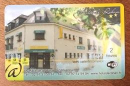 56 ROHAN HÔTEL CARTE PASSMAN 2H PRÉPAYÉE INTERNET PREPAID PHONECARD - Prepaid Cards: Other