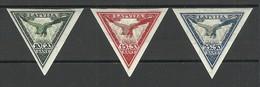 LATVIA Lettland 1933 Michel 203 - 205 B * Incl. Better Wm Position By Mi 204 B - Lettland