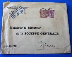 Registered Chargé London Société Générale Perforé,Perforés,Perfin Perfins,Perforatis,Perforado,Perforated,Durchlöche - Gezähnt (perforiert)