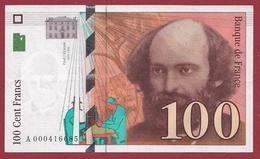 """100 Francs """"Cézanne"""" 1997 ---SUP--ALPH -A- Numéro .000416685---PREMIER MILLION - 1992-2000 Ultima Gama"""