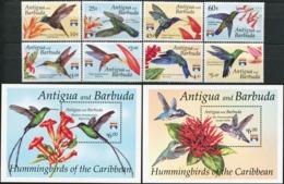 ANTIGUA AND BARBUDA 1992 Hummingbirds Of The Caribbean Flowers Plants Flora Birds Animals Fauna MNH - Segler & Kolibris